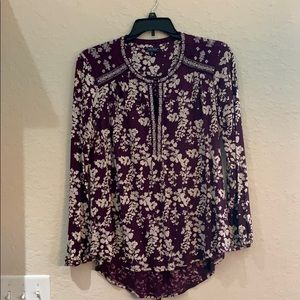 Lucky Brand purple floral blouse